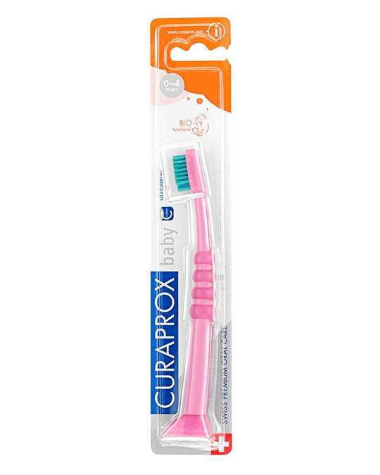 Baby Toothbrush pink-green